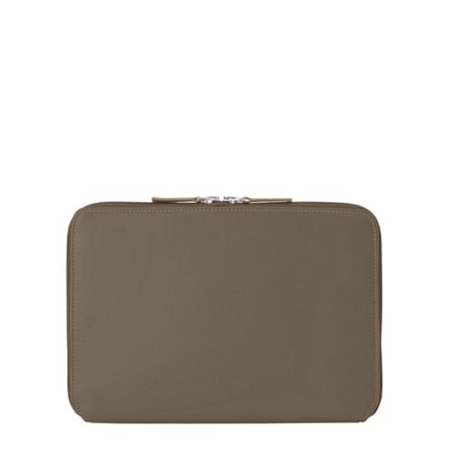 Schutzhülle mit Reißverschluss für iPad Pro 10,5 Zoll - Dunkeltaupe - Glattleder