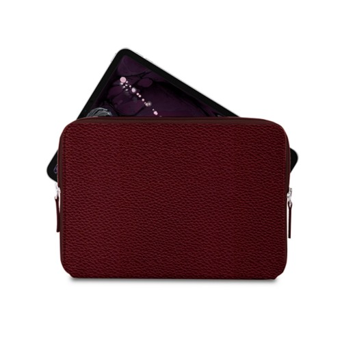 "Zipped case for iPad Pro 11"" - Burgundy - Granulated Leather"