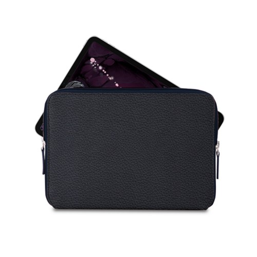 """Zipped case for iPad Pro 11"""" - Navy Blue - Granulated Leather"""