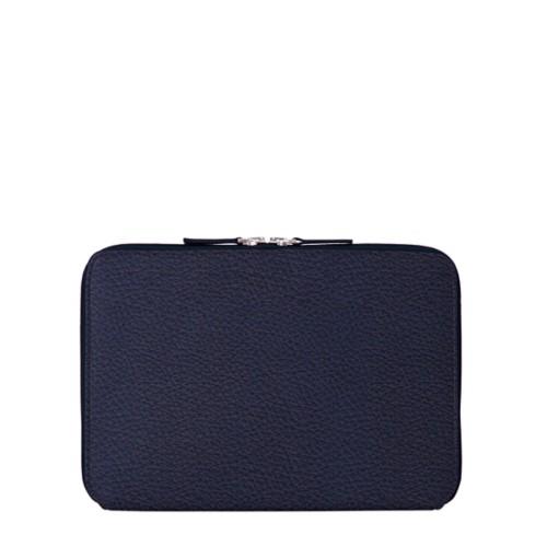 Reißverschlusshülle Für Das iPad Pro 11 Zoll - Marineblau  - Genarbtes Leder
