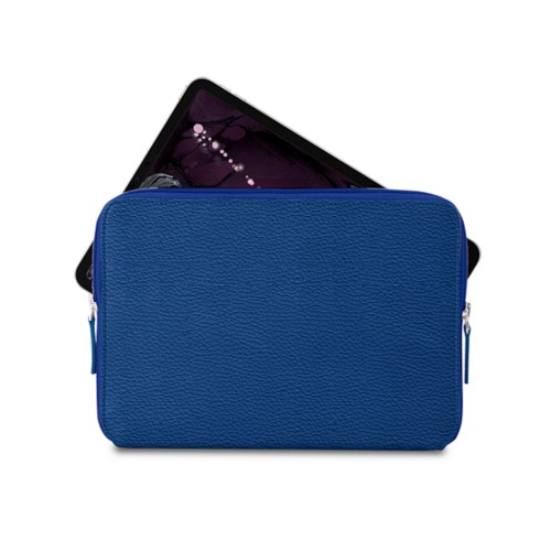 """Zipped case for iPad Pro 11"""" - Royal Blue - Granulated Leather"""