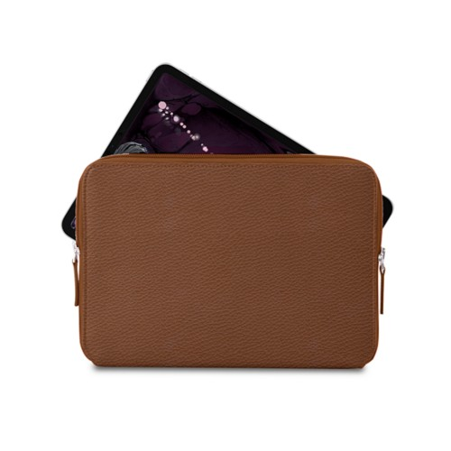 """Zipped case for iPad Pro 11"""" - Tan - Granulated Leather"""