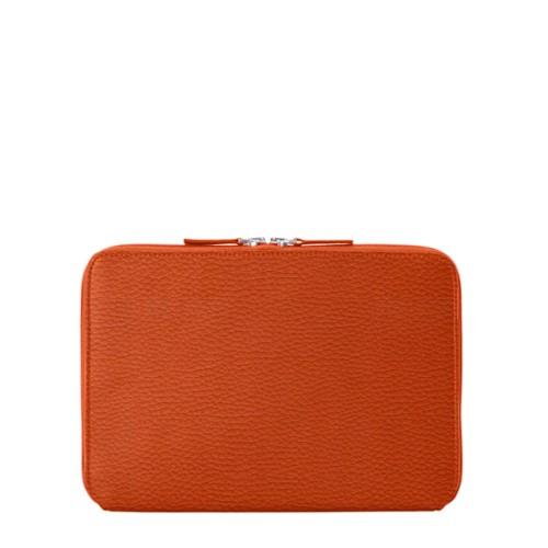 Funda Con Cremallera Para iPad Pro 11 - Naranja - Piel Grano