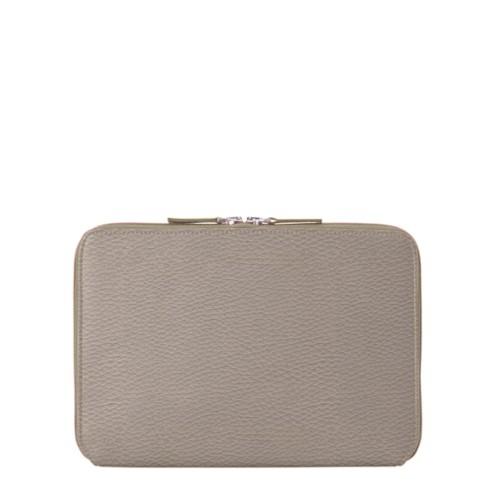 "iPad Pro 11"" ファスナー付きケース - Light Taupe - Granulated Leather"