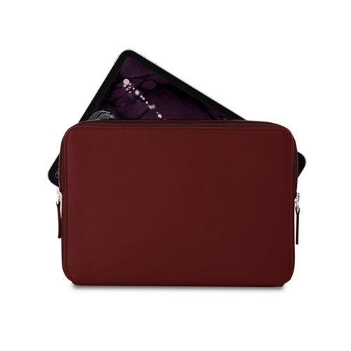 "Zipped case for iPad Pro 11"" - Burgundy - Smooth Leather"