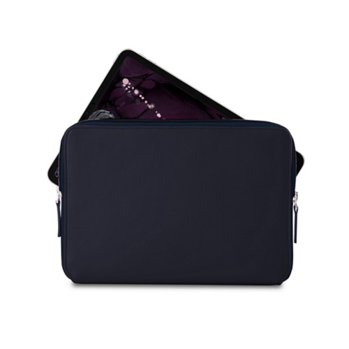 """Zipped case for iPad Pro 11"""" - Navy Blue - Smooth Leather"""