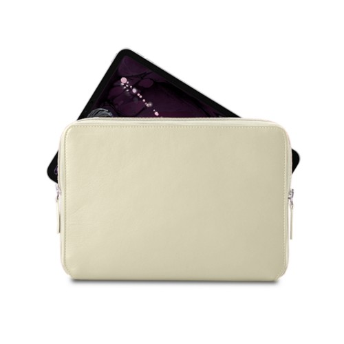 "Zipped case for iPad Pro 11"" - Off-White - Smooth Leather"