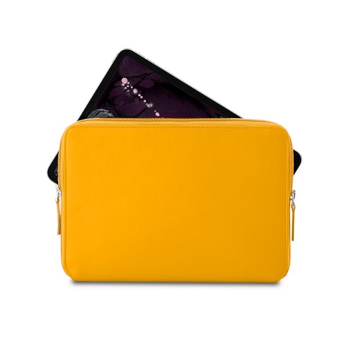 "Zipped case for iPad Pro 11"" - Sun Yellow - Smooth Leather"