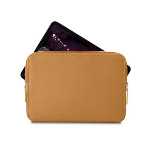 "Zipped case for iPad Pro 11"" - Natural - Smooth Leather"