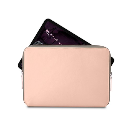 "Zipped case for iPad Pro 11"" - Nude - Smooth Leather"