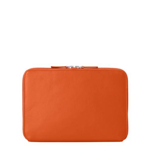Funda Con Cremallera Para iPad Pro 11 - Naranja - Piel Liso