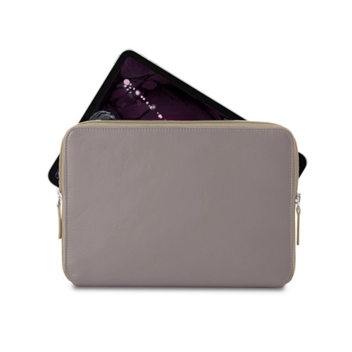 """Zipped case for iPad Pro 11"""" - Light Taupe - Smooth Leather"""