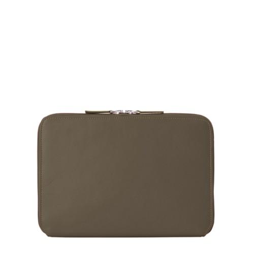 Reißverschlusshülle Für Das iPad Pro 11 Zoll - Dunkeltaupe - Glattleder