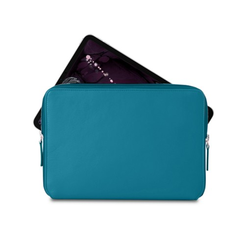 "Zipped case for iPad Pro 11"" - Turquoise - Smooth Leather"
