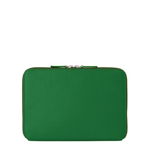 Funda Con Cremallera Para iPad Pro 11 - Verde claro - Piel Liso