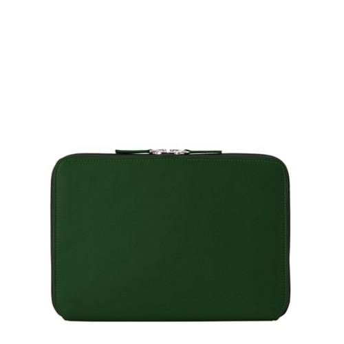 """iPad Pro 11"""" ファスナー付きケース - Dark Green - Smooth Leather"""