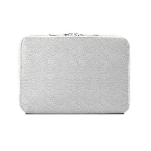 Zip Around Sleeve for iPad Air - White - Granulated Leather