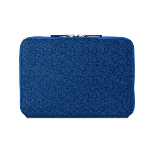 Zip Around Sleeve for iPad Air - Royal Blue - Granulated Leather