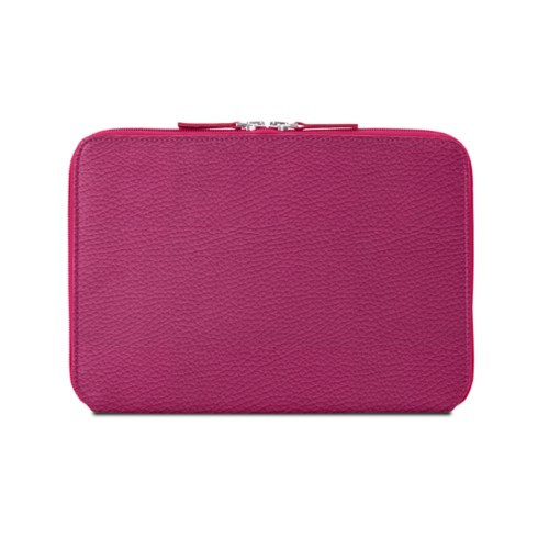 Zip Around Sleeve for iPad Air - Fuchsia  - Granulated Leather
