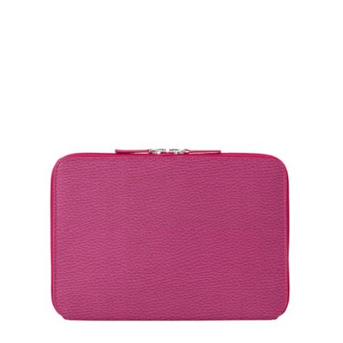 Funda con cremallera para iPad Air - Fuchsia  - Piel Grano
