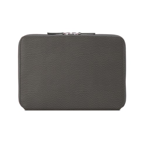 Zip Around Sleeve for iPad Air - Mouse-Grey - Granulated Leather