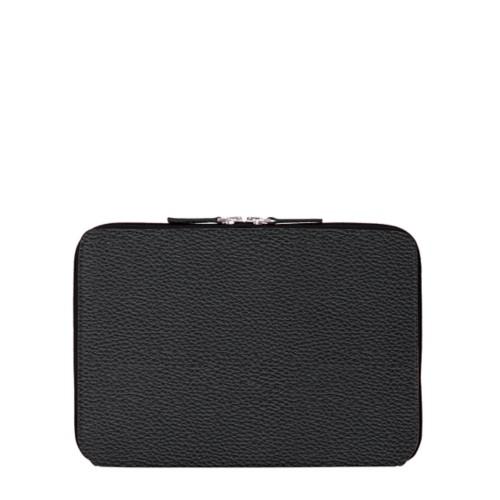 Zip Around Sleeve for iPad Air - Black - Granulated Leather