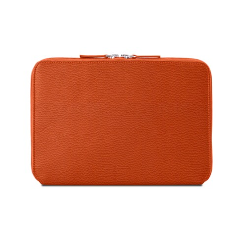 Zip Around Sleeve for iPad Air - Orange - Granulated Leather