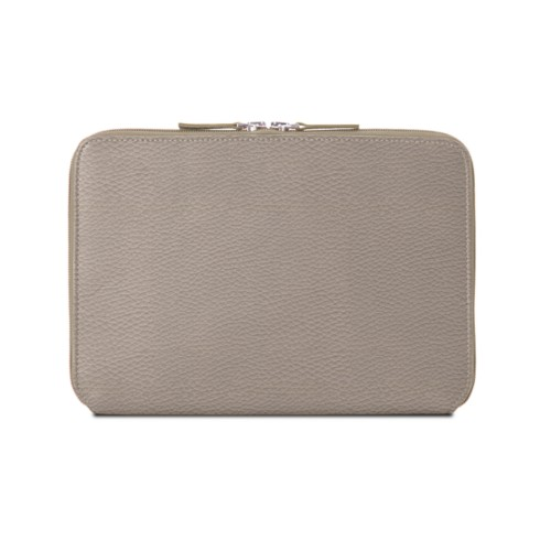 Zip Around Sleeve for iPad Air - Light Taupe - Granulated Leather