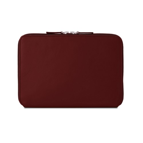 Zip Around Sleeve for iPad Air - Burgundy - Smooth Leather
