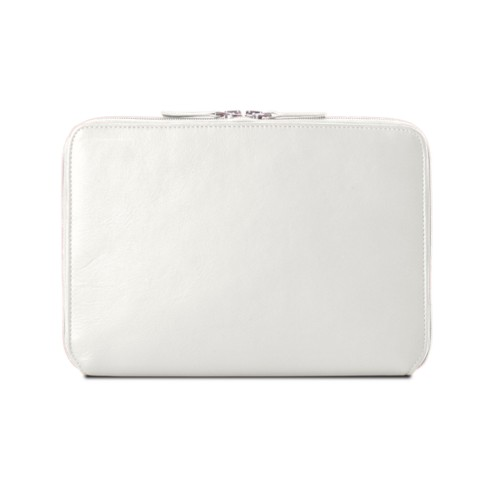 Zip Around Sleeve for iPad Air - White - Smooth Leather