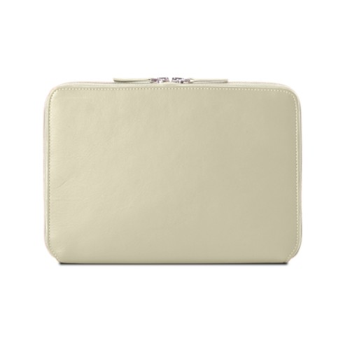 Zip Around Sleeve for iPad Air - Off-White - Smooth Leather
