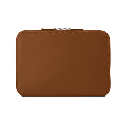 Zip Around Sleeve for iPad Air - Tan - Smooth Leather