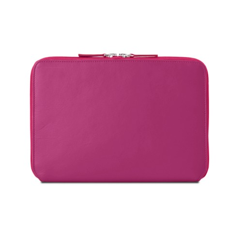 Zip Around Sleeve for iPad Air - Fuchsia  - Smooth Leather