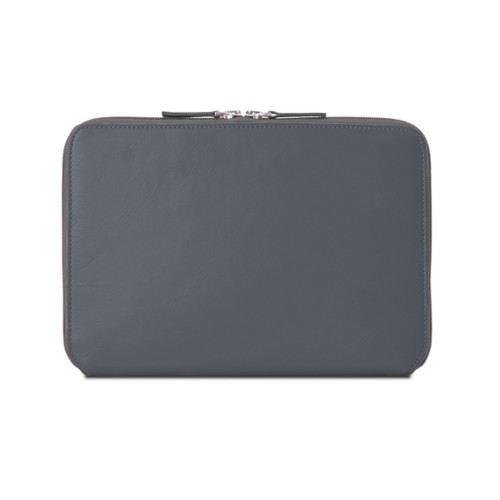 Zip Around Sleeve for iPad Air - Mouse-Grey - Smooth Leather