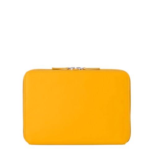 Zip Around Sleeve for iPad Air - Sun Yellow - Smooth Leather