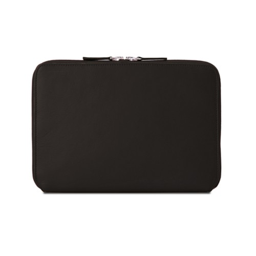 Zip Around Sleeve for iPad Air - Dark Brown - Smooth Leather