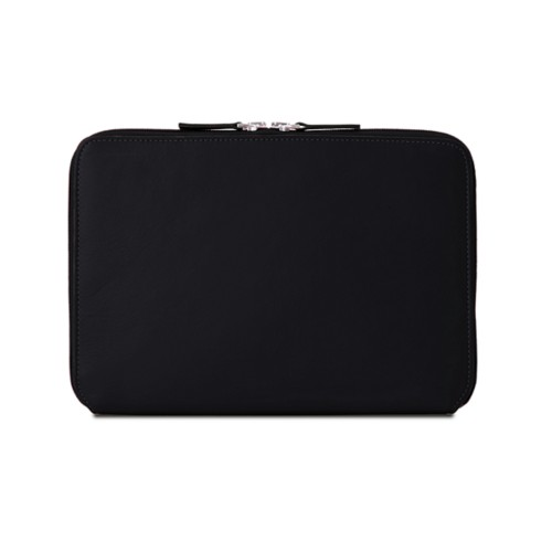 Zip Around Sleeve for iPad Air - Black - Smooth Leather