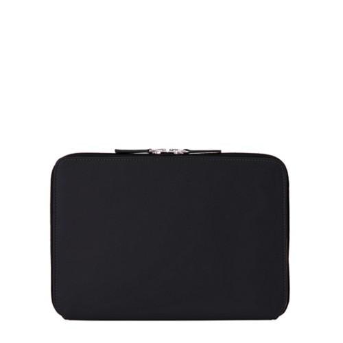 Housse Zippée pour iPad Air - Noir - Cuir Lisse