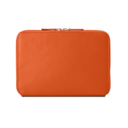 Zip Around Sleeve for iPad Air - Orange - Smooth Leather