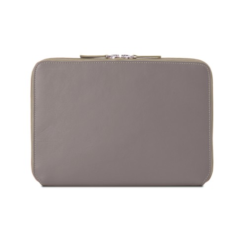 Zip Around Sleeve for iPad Air - Light Taupe - Smooth Leather