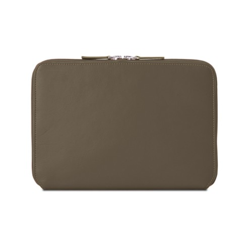 Zip Around Sleeve for iPad Air - Dark Taupe - Smooth Leather