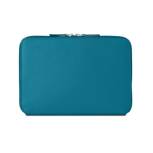 Zip Around Sleeve for iPad Air - Turquoise - Smooth Leather