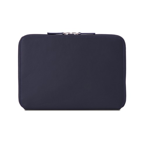Zip Around Sleeve for iPad Air - Purple - Smooth Leather