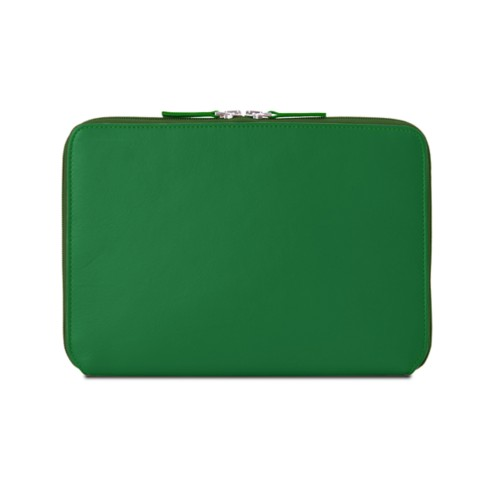 Zip Around Sleeve for iPad Air - Light Green - Smooth Leather