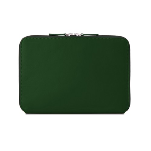 Zip Around Sleeve for iPad Air - Dark Green - Smooth Leather