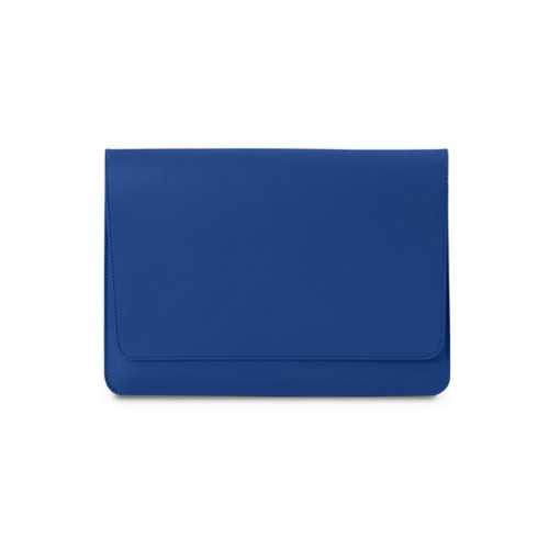 A5 pouch with flap - Royal Blue - Smooth Leather