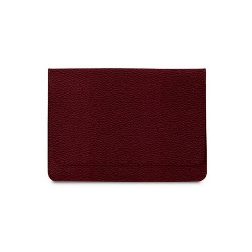 Tasche mit Klappe iPad 10.5 - Weinrot - Genarbtes Leder