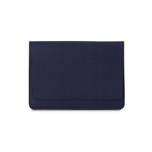Tasche mit Klappe iPad 10.5 - Königsblau  - Genarbtes Leder