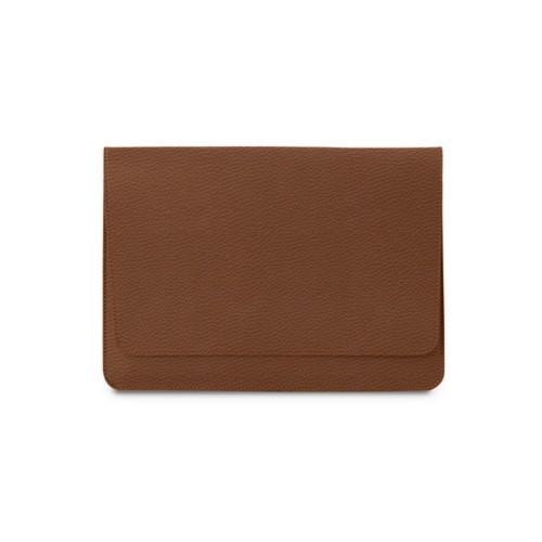 Tasche mit Klappe iPad 10.5 - Cognac - Genarbtes Leder