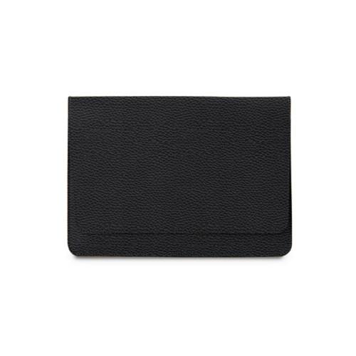 Tasche mit Klappe iPad 10.5 - Schwarz - Genarbtes Leder